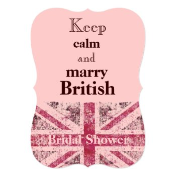 Girly Grunge Union Jack British Bride Card by justbecauseiloveyou at Zazzle