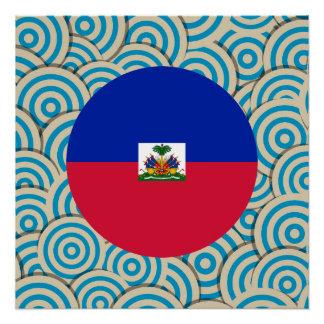 Girly Haitian Flag Gift Poster