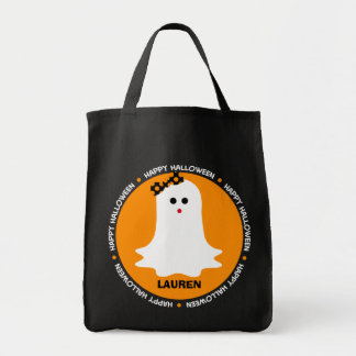 Girly Halloween Ghost Trick or Treat Bag