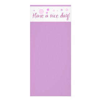 GIRLY HAVE A NICE DAY POLKA DOTS EXPRESSIONS POLIT RACK CARD