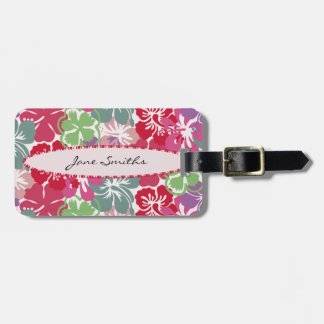 Girly Hibiscus and Surfboard Bag Tag