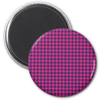 Girly Hot Pink and Purple Pattern Gifts 2 Inch Round Magnet