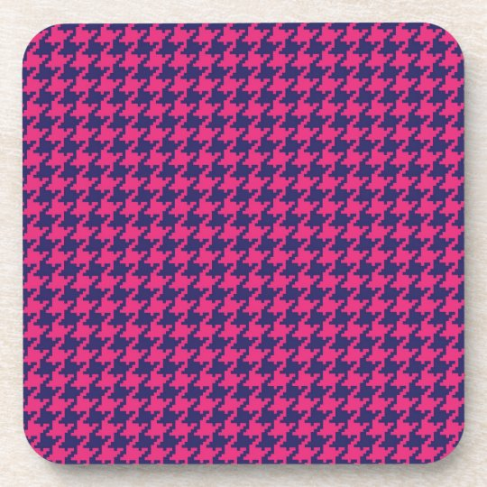 Girly Hot Pink and Purple Pattern Gifts Beverage Coaster