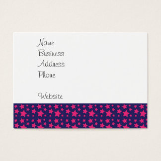 Girly Hot Pink and Purple Stars Pattern Gifts Business Card