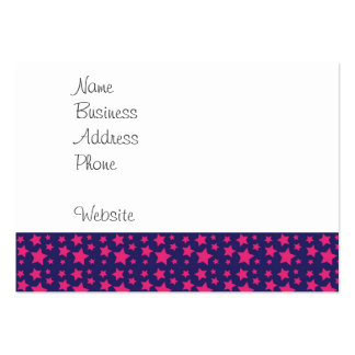 Girly Hot Pink and Purple Stars Pattern Gifts Large Business Card