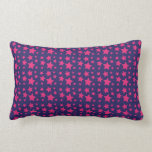 Girly Hot Pink and Purple Stars Pattern Gifts Throw Pillow