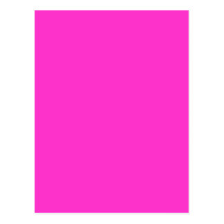 Girly Hot Pink Color Background Customize It! Postcard