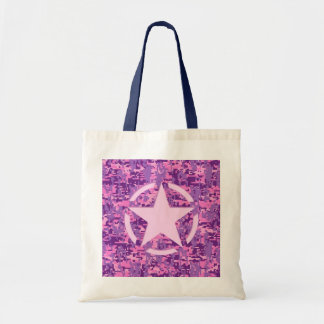 Girly Hot Pink Digital Camouflage Camo Budget Tote Bag