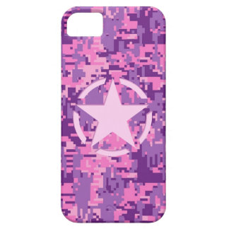 Girly Hot Pink Digital Camouflage Camo iPhone SE/5/5s Case
