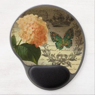 girly Hydrangea  butterfly vintage paris Gel Mouse Mat