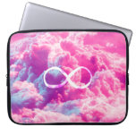 Girly Infinity Symbol Bright Pink Clouds Sky Computer Sleeve