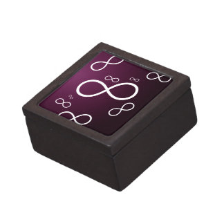 Girly infinity Symbol on magenta background Premium Jewelry Boxes