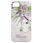 Girly iPhone5 Lavender Purple Sweet Peas iPhone 5 Cases