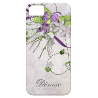 Girly iPhone5 Lavender Purple Sweet Peas iPhone SE/5/5s Case