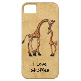 Girly iPhone5 Mother Baby Giraffes iPhone SE/5/5s Case
