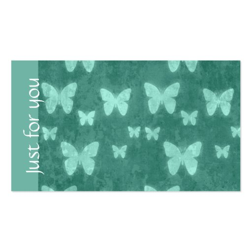 Girly Jade Green Butterfly Spa Business Gift Cards Business Cards