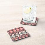 Girly Jellyfish Diamond Pattern Beverage Coaster