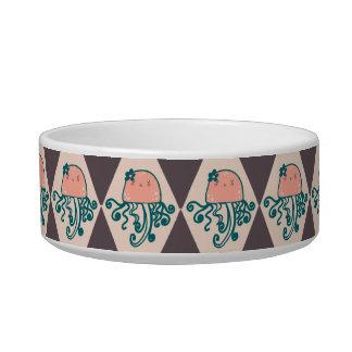Girly Jellyfish Diamond Pattern Bowl