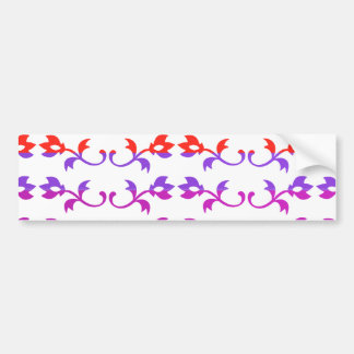 GIRLY Jewel Prints : BabySoft Color Patterns Car Bumper Sticker
