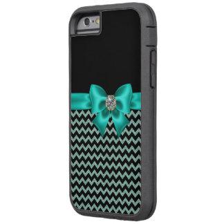 Girly Jeweled Turquoise Bow Tough Xtreme iPhone 6 Case