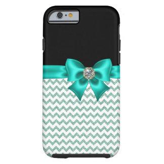 Girly Jeweled Turquoise Bow Tough iPhone 6 Case