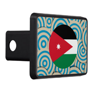Girly Jordanian Flag Gift Hitch Covers
