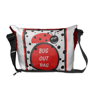 Girly Ladybug Bug Out-Bag--Cute Courier Bags