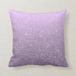 Girly Lavender Faux Glitter Pattern Cute Modern Throw Pillow at Zazzle