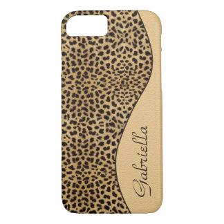 Girly Leopard Monogram iPhone 7 case