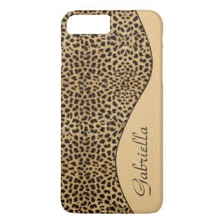 Girly Leopard Monogram iPhone 7 Plus case