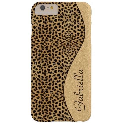 Girly Leopard Pattern Ornate Monogram Phone Case