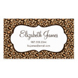 Girly Leopard Print Business Card Template