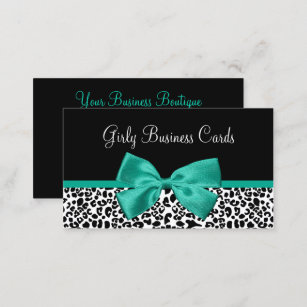 Emerald green business cards zazzle girly leopard print emerald green ribbon business card reheart Gallery
