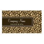 Girly Leopard Salon Business Cards