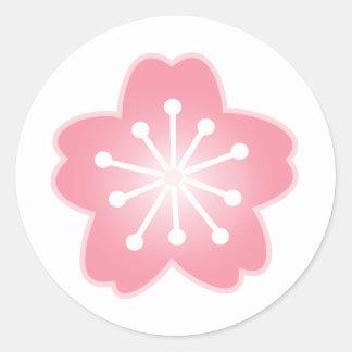 Girly Light Pink Cherry Blossom Envelope Stickers