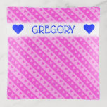 [ Thumbnail: Girly Light Pink & Dark Pink Heart Stripes Pattern Trinket Trays ]