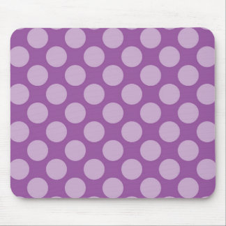 Girly Light Purple Polka Dots on Purple Cute Gifts Mouse Pad