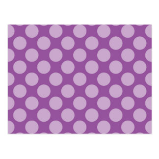 Girly Light Purple Polka Dots on Purple Cute Gifts Postcard