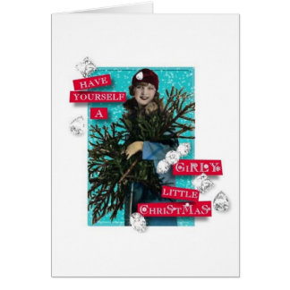 Girly Little Christmas Card