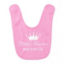 Girly Little princess crown heart pattern baby bib