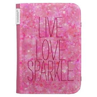 Girly Live Love Sparkle Pink Bokeh