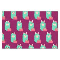Girly Llama Emoji Tissue Paper