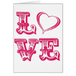 Girly LOVE Greeting Card
