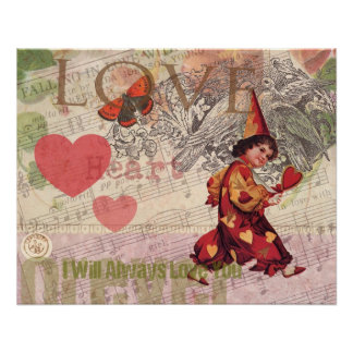 Girly Love Heart Sweetheart Poster