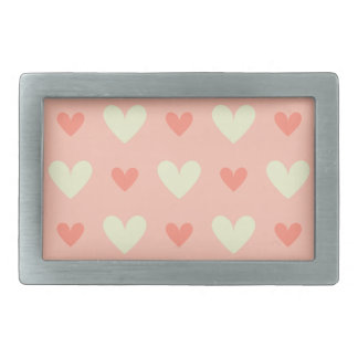Girly Love Hearts - Elegant and Chic Pattern Rectangular Belt Buckles