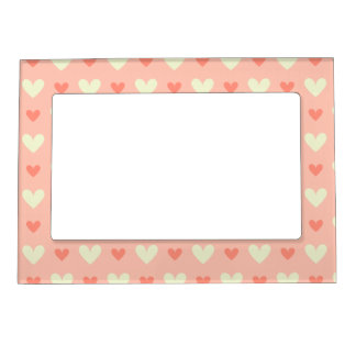 Girly Love Hearts - Elegant and Chic Pattern Magnetic Picture Frame