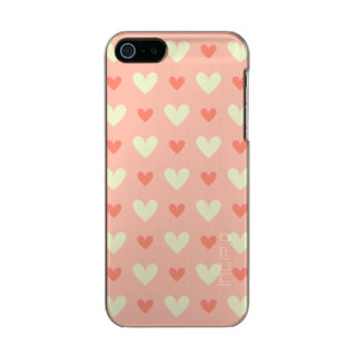 Girly Love Hearts - Elegant and Chic Pattern Metallic iPhone SE/5/5s Case