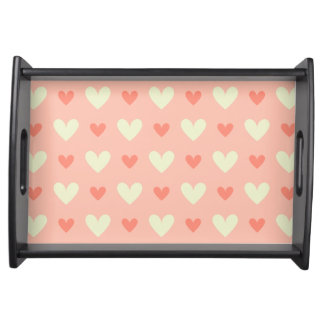 Girly Love Hearts - Elegant and Chic Pattern Serving Tray