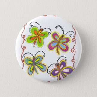 Girly Lovely colorful Butterfly Button