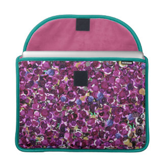 Girly Magenta Pink Faux Sequins MacBook Pro Sleeve